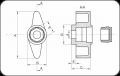 Крилчата гайка (Код: FMB) - Изображение 2