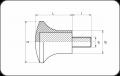 Гъбообразна ръкохватка с винт (Код: CLA) - Изображение 2