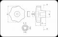 Звездообразна ръкохватка за скосен вал (Код: CNB) - Изображение 2